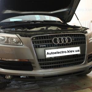 Установка штатных дневных ходовых огней на Audi Q7 с функцией поворотников