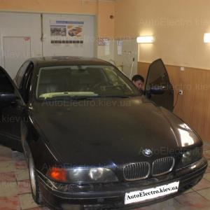 BMW E39 установка автосигнализации с автозапуском