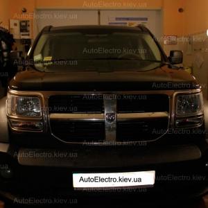 Установка биксенона на Dodge Nitro