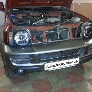 Suzuki Jimny 2005 г.в., установка DRL, замена штатной акустики и автомагнитолы.