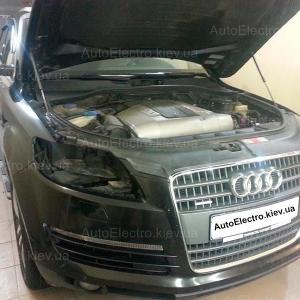 Audi Q7 - замена штатных биксеноновых линз на Valeo New