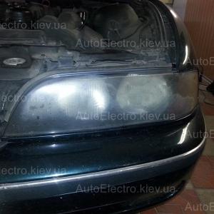Установка рестайлинговой оптики Hella на БМВ (BMW) E39 (пятерка)