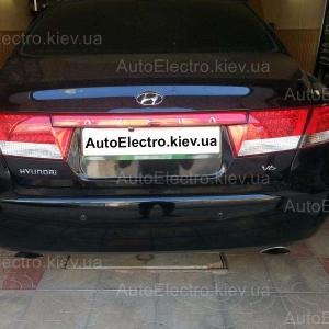 Hyundai Azera (Grandeur) - установка зеркала-видеорегистратора, камеры заднего вида,  парктроника, подогрева (обогрева) передних сидений.