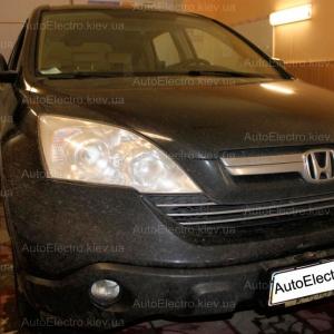 Honda CR-V установка подогрева сидений, установка подогрева зеркал, установка ксенона
