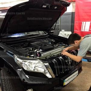 Toyota Prado 150 2016 г. в. - установка сигнализации, иммобилайзера и замка капота