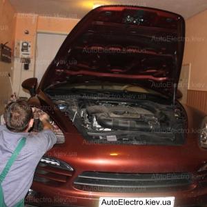Установка комплекта ксенона Mlux на Porsche Cayenne