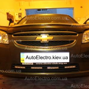 Установка DRL, ксенона, штатной магнитолы, камеры заднего вида на Chevrolet Epica